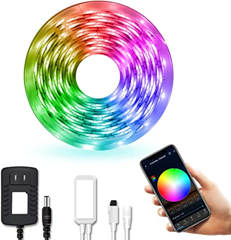 Daybetter Led Strip Lights Smart Led Lights 16 4ft Waterproof 5050 Rgb Color Changing Controlled By Phone App Sync To Music Wifi Led Strips Work