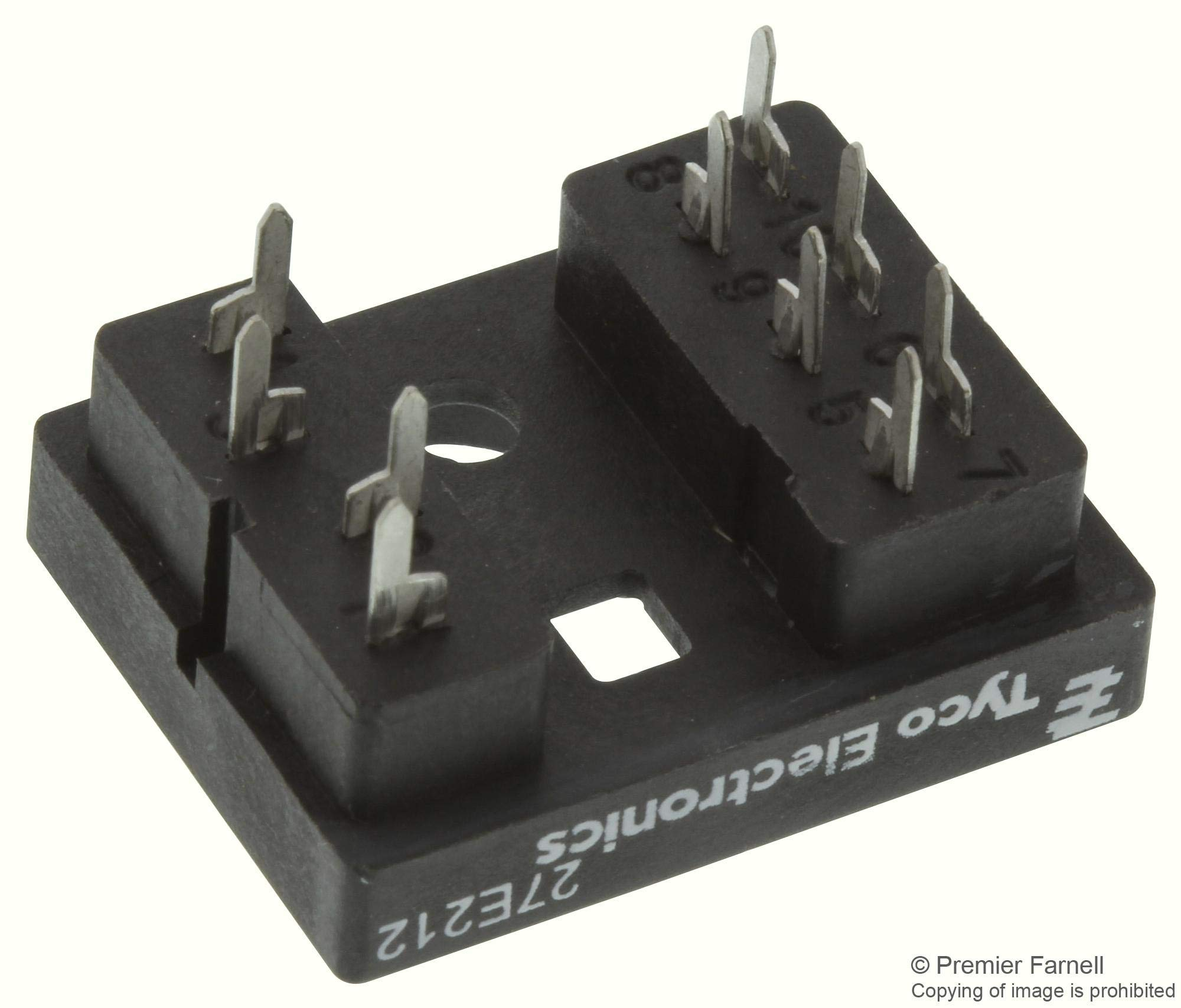 27E212 - Relay Socket, Through Hole, 10 Pins, 10 A (Pack of 20) -2.7E+213