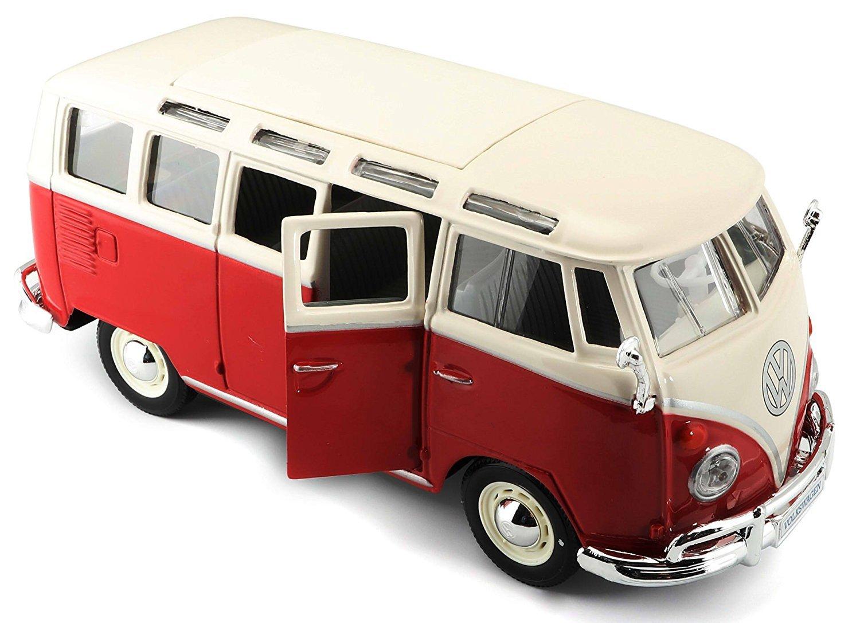 31956/W//R Maisto/ Red//White /VW Van Samba