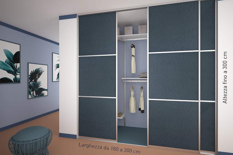 Puertas correderas n.º 3 para cabina armario a medida. Puerta corredera. Armario de pared.