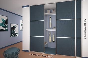 Ante scorrevoli nr per cabina armadio su misura porta