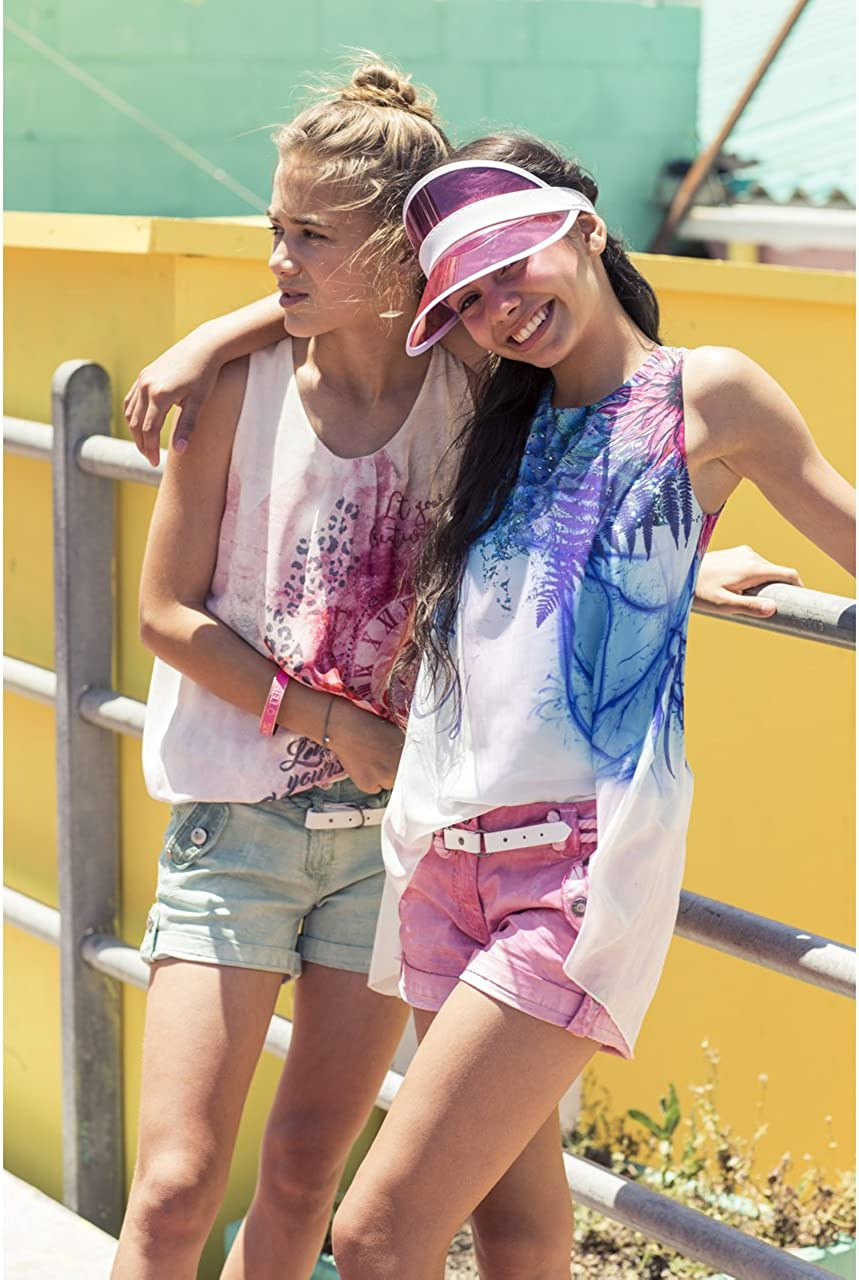 Million X Girls Shorts Regular Fit Sky Blue