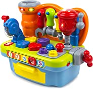 Toysery Musical Learning Workbench Toy Set Great Educational Learning Toy for Teaching Colors, Shapes, Number Tools Sounds &