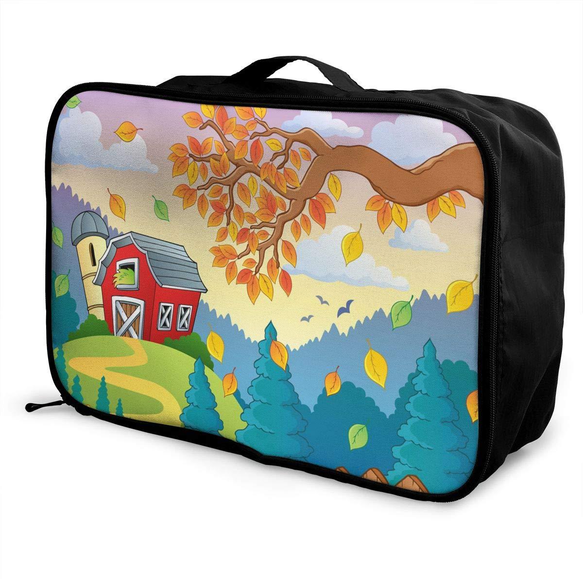 Travel Luggage Duffle Bag Lightweight Portable Handbag Leaf Nature Large Capacity Waterproof Foldable Storage Tote