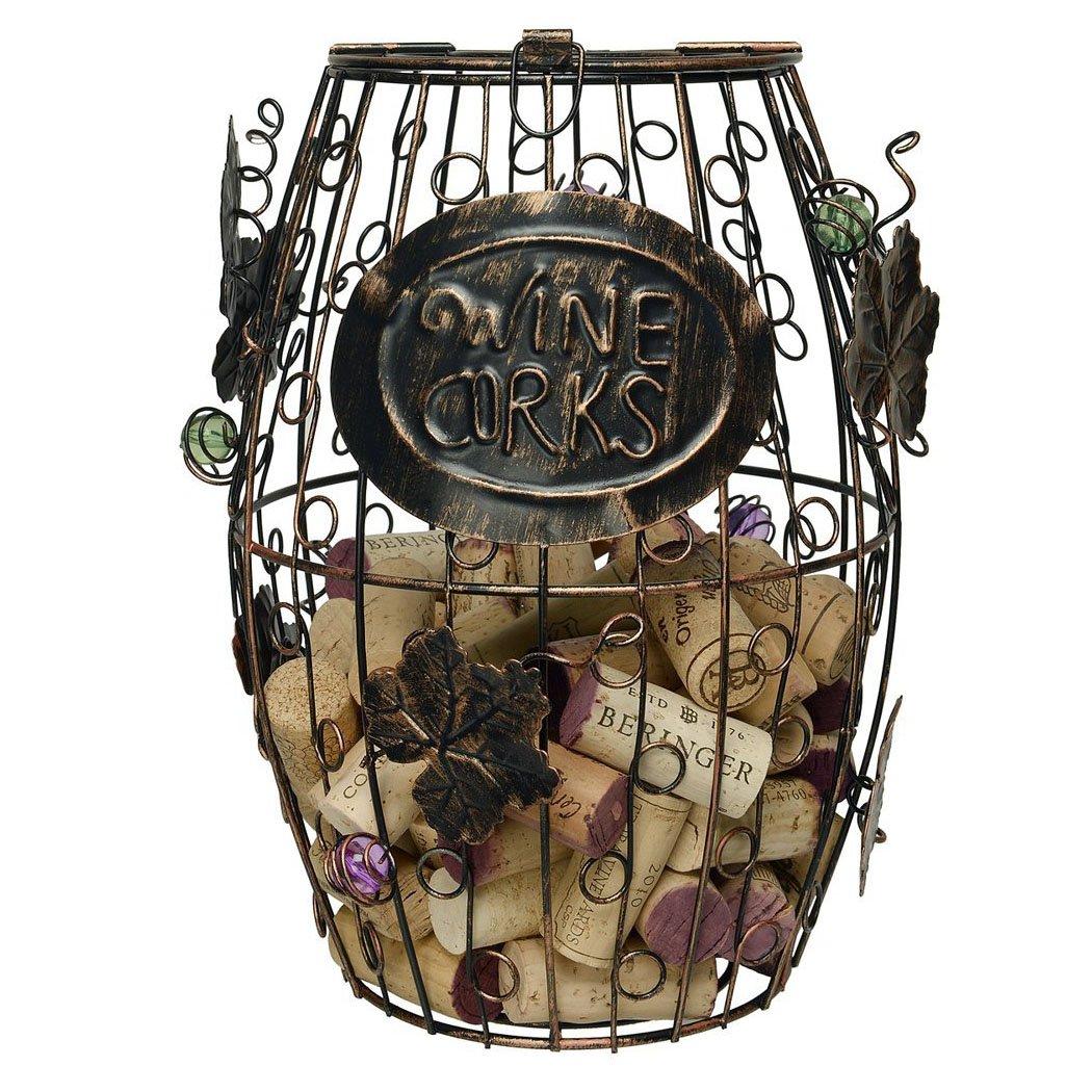 (24cm) - Corneria Wine Barrel Cork Cage Holder- Great Bar Decor - Wine Corks Storage (24cm) 9.5inch  B01G1EKMN8