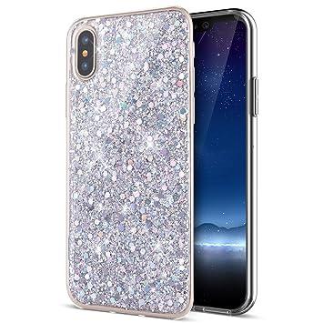 coque iphone x paillette silicone