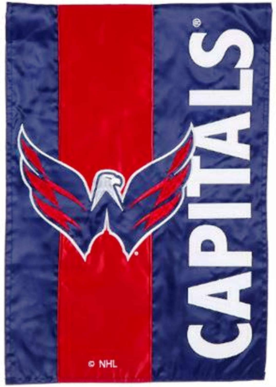 Rico Industries, Inc. Washington Capitals Embellished Premium 2-Sided Garden Flag Applique Embroidered Outdoor House Banner Hockey