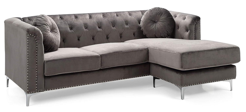 Glory Furniture Pompano G782B-SC Sofa Sectional, Dark Gray. Living Room  Furniture, 31\