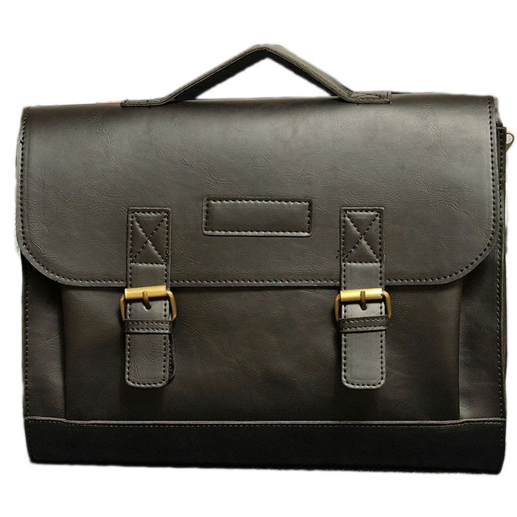 Cest Moi Men Bag Semi Cowhide Handbag Shoulder Bag Briefcase Classic Crossbady Black