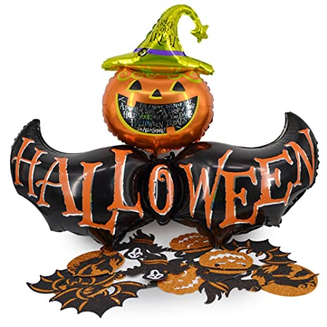 Okyatec Set 3 pz Elementi Decorativi per Feste Halloween - Girlanda  Decorazioni Halloween Parete + Grande 47a7087d647f