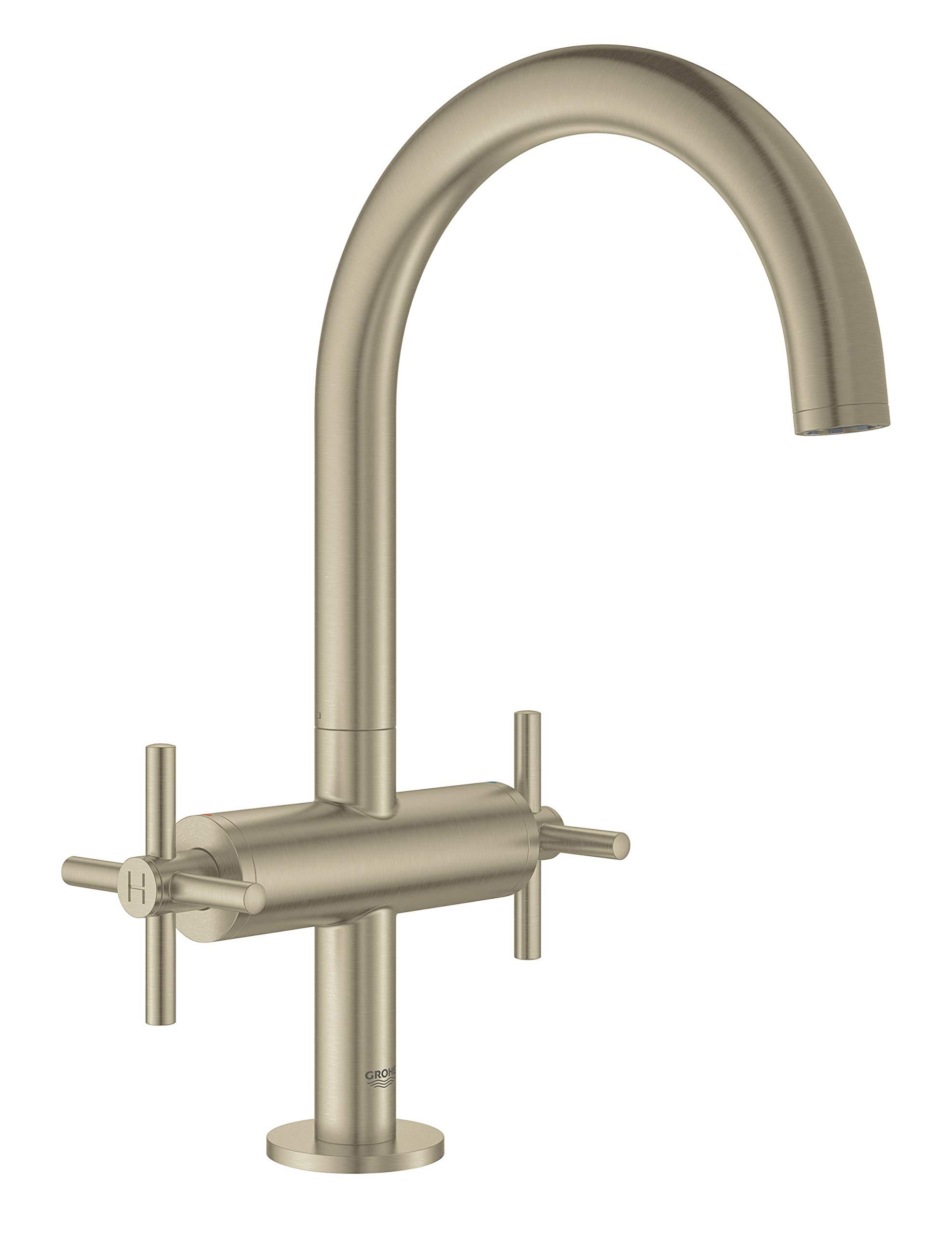 Grohe 18026EN3 Atrio Bathroom Faucet Cross Handles, Brushed Nickel by GROHE (Image #3)
