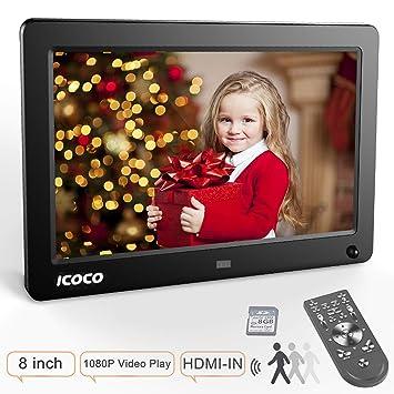 ICOCO 1080P FHD Marco Digital IPS Pantalla Marco de Fotos Digital Marco Digital (8 Pulgadas): Amazon.es: Electrónica