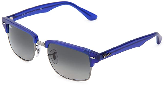 1a8039fc2c Ray-Ban CLUBMASTER SQUERE - SEMIGLOSS Blue Gunmetal Frame Crystal Gradient  Grey Lenses 52mm