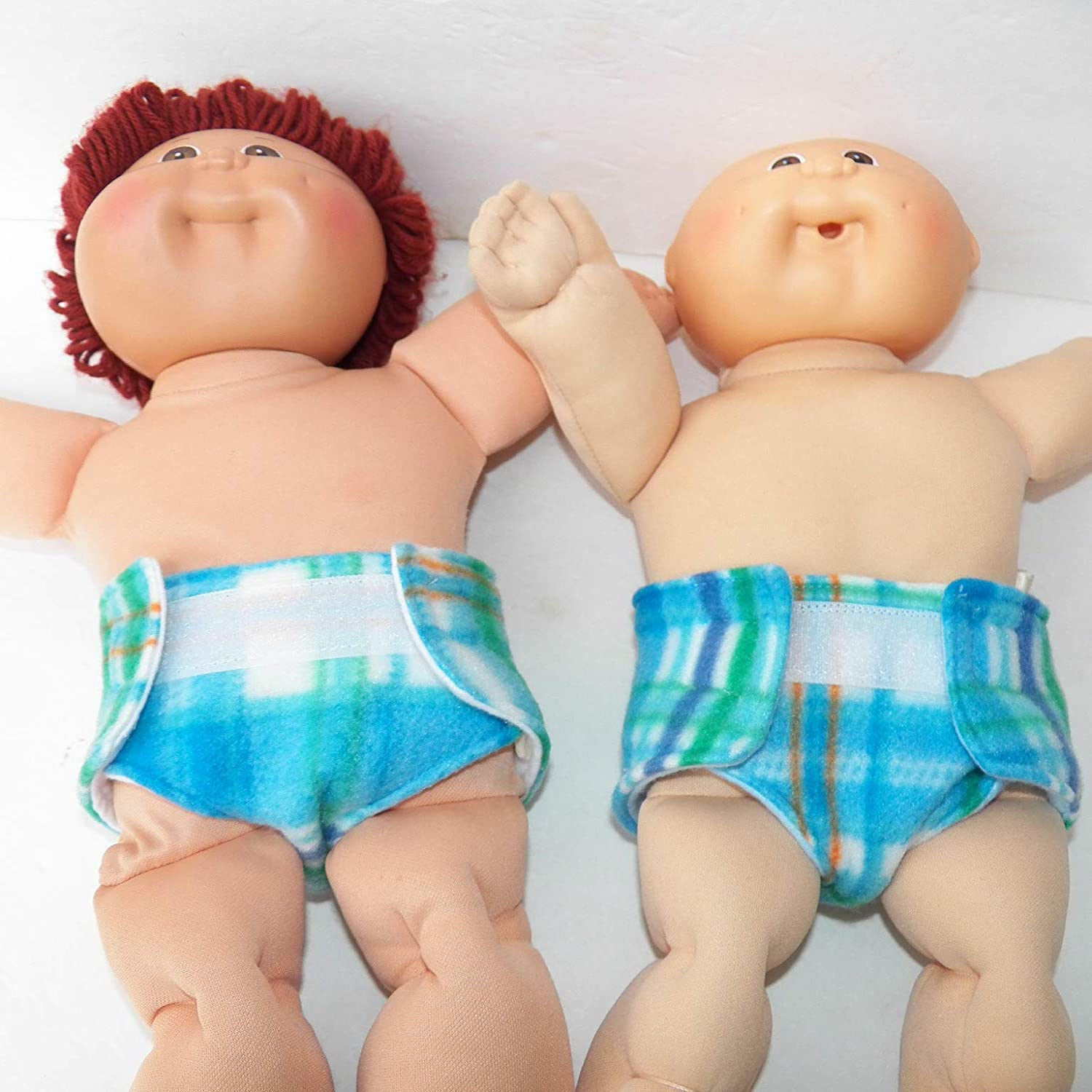 Cabbage Patch Doll Clothes Fits 14 inch Boy or Preemie Green Check Pants
