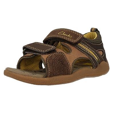 97c8c39da26f25 Clarks Boys Casual Sandals Stompo Sun Brown Size 7.5G  Amazon.co.uk ...
