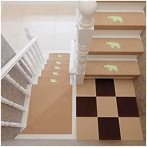 Alfombras de Escalera Alfombra para Escalera Diseño Luminoso Conjunto de 10 Autoadhesivo Almohadillas para escaleras Alfombra/Alfombra para Escalera Antideslizante Antideslizante Protector de Piso L: Amazon.es: Hogar