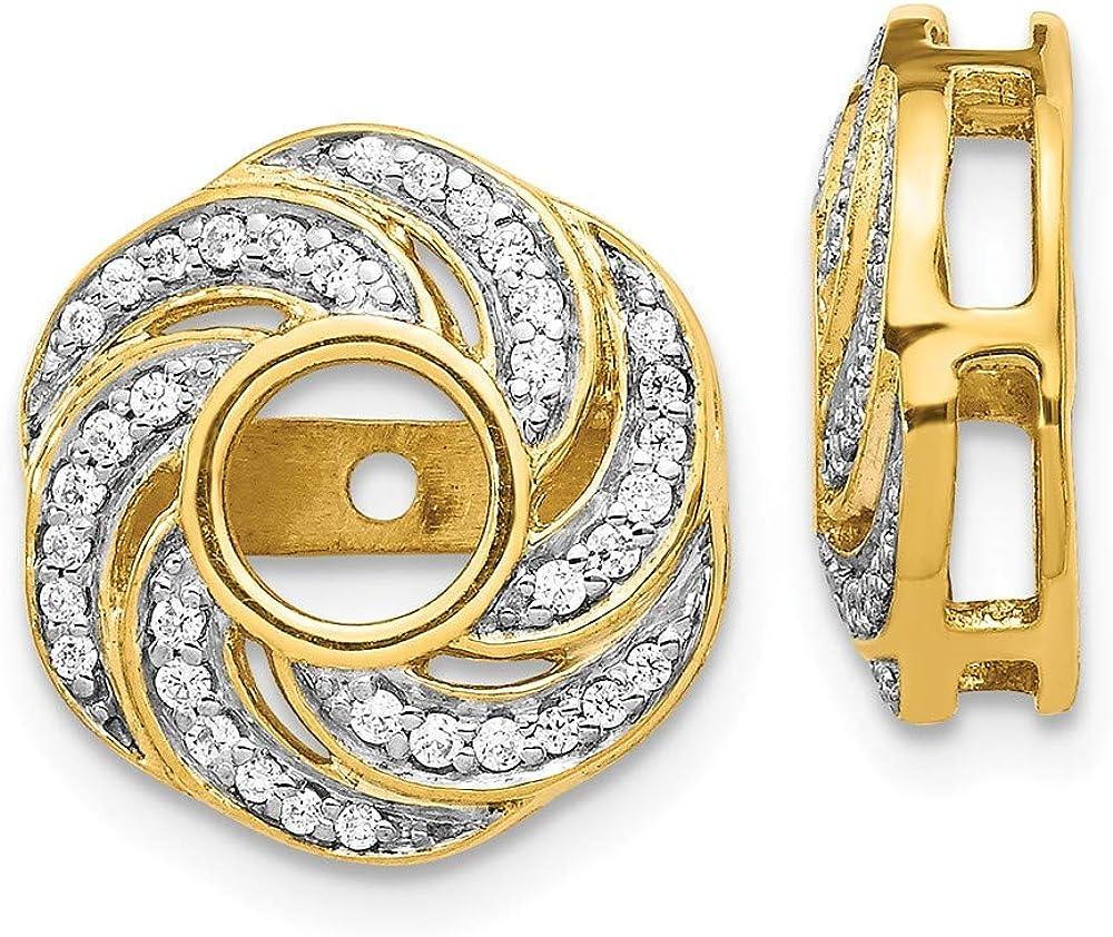 14k Yellow Gold Diamond Jacket Earrings Ejm Fine Jewelry For Women Gifts For Her