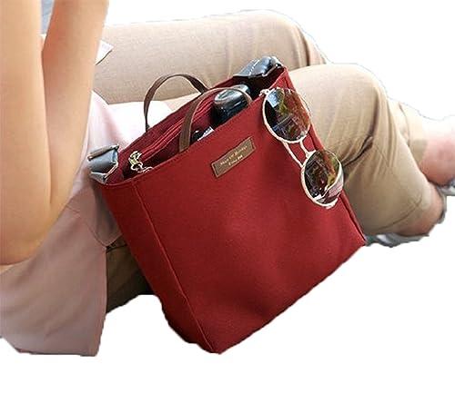Cartera Mujer Bolso de mano tela modelo Piani de temporada verano primavera en diferentes colores (Rojo): Amazon.es: Zapatos y complementos