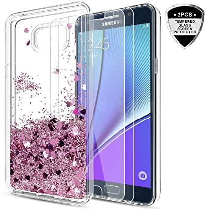 Galaxy Note 5 Case with Tempered Glass Screen Protector  2 Pack  for Girls  Women a3d3175d7