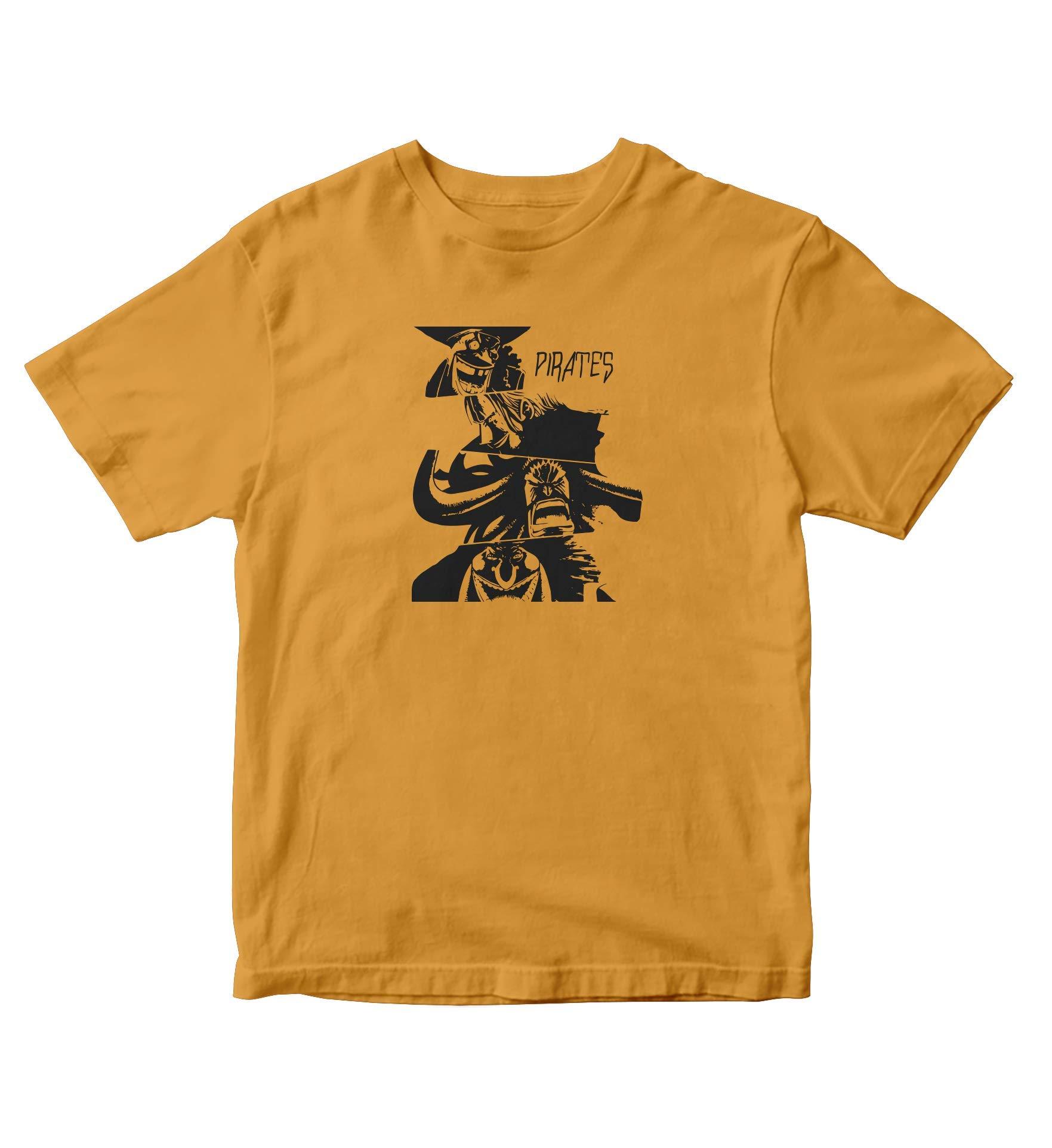 Tjsports One Piece Gold Shirt Pirates Of Piece Anime Manga S A746