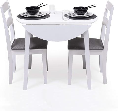 conjunto mesa redonda sillas cocina