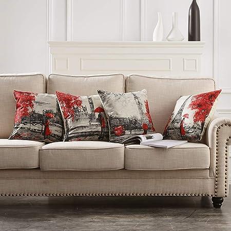 Taie d/'oreiller Housse européenne Solide Taie d/'oreiller 45*45cm canapé coussins Home Decor