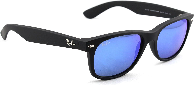 ray ban wayfarer blue mirror lens