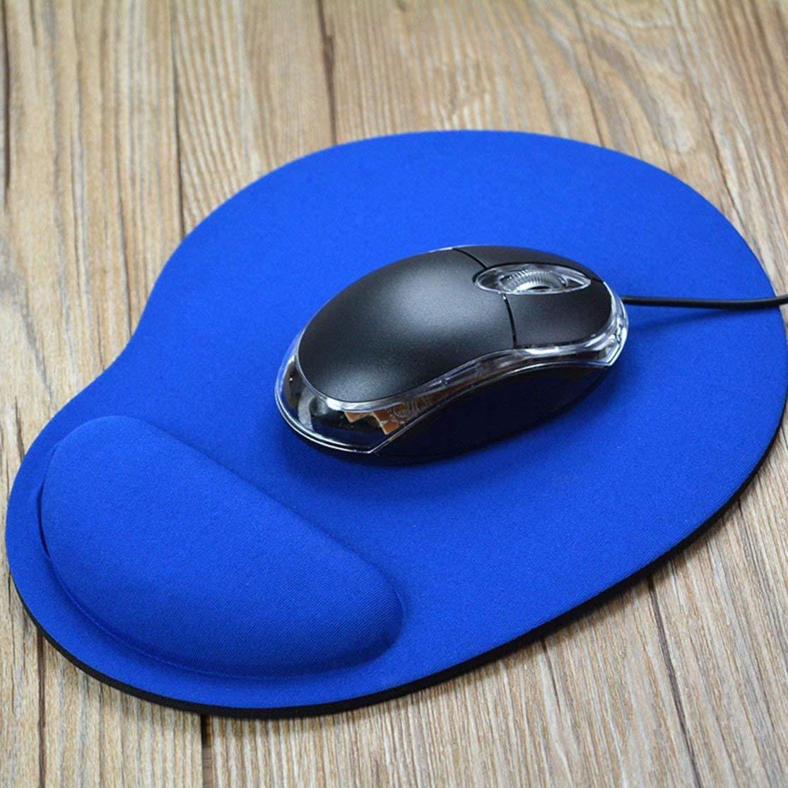 LouiseEvel215 Ergonomic Mouse Pad with Wrist Support Rest Soft EVA Mouse Mat for Laptop Desktop Anti-Slip Mice Mat