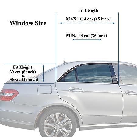 TFY Parasol de coche para las ventanas de los niños. Protege sus hijos de las quemaduras solares - Diseño de una sola capa - Máxima Visibilidad (1 Pieces): ...