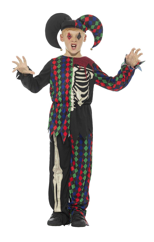 Smiffys Disfraz de Esqueleto bufón,, Parte de Arriba, pantalón y ...