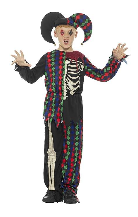 Smiffys Disfraz de esqueleto bufón,, parte de arriba ...
