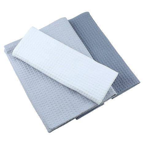 Paños de algodón 100% Lote de 3 Suela de pique en Uni Blanco, ...