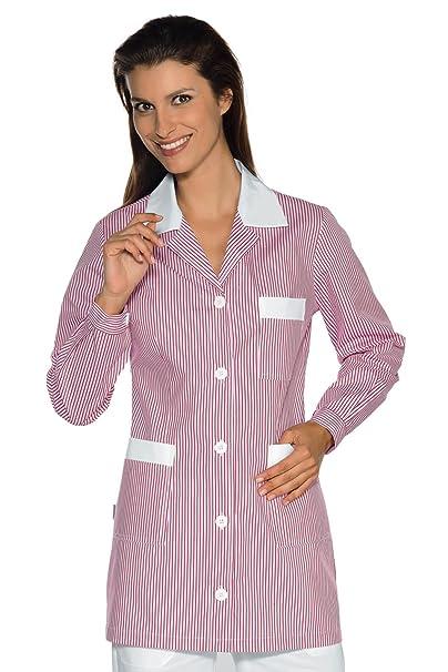 Isacco-túnica médica Marbella, diseño de Rayas, Color Rosa y Blanco: Amazon.es: Ropa y accesorios