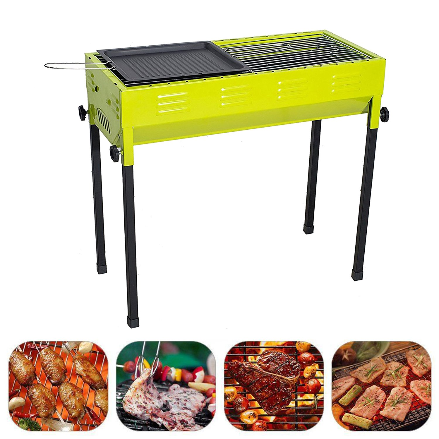 Camp Solutions BBQ Grill, Charcoal grill, Foldable and Portable Outdoor Grill, A Perfect Gift for Barbecue Lovers by Camp Solutions