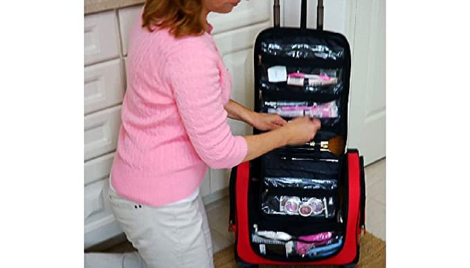 3dc46706b074 Weekender Bag with Snap-In Toiletry Case by Lori Greiner - Purple  Amazon.ca   Clothing   Accessories