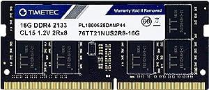 Timetec Hynix IC 16GB DDR4 SODIMM for Intel NUC KIT/Mini PC/HTPC/NUC Board 2133MHz PC4-17000 Non ECC Unbuffered 1.2V CL15 Dual Rank 260 Pin Memory Ram Upgrade(16GB)