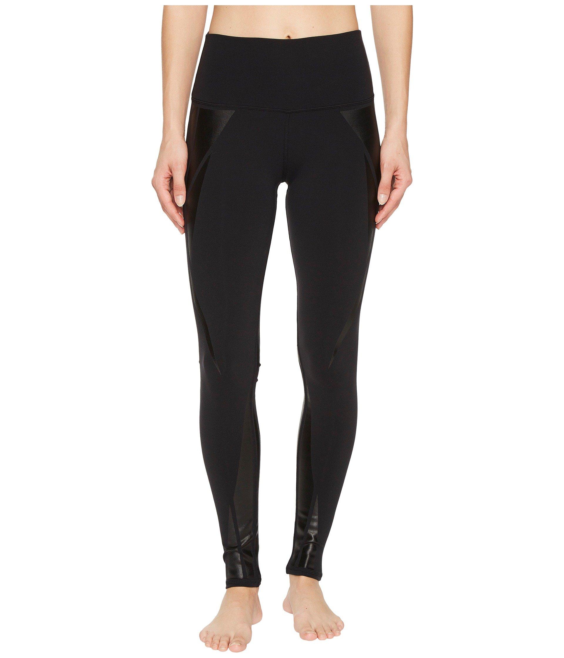 Alo Yoga Women's High Waist Airbrush Legging, Black/Black Facet, L