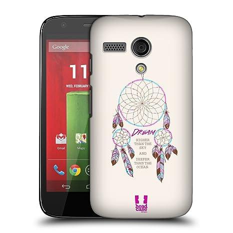 Head Case Designs Atrapasueños serie 2 carcasa rígida para Motorola teléfonos 1, plástico, Dream Higher, Motorola Moto G (1st Gen)