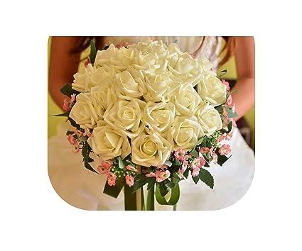Amazon Com 24 Pieces Of Rose Flower 6 Color Artificial Bride