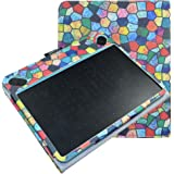 Wacom CTL-490DW-S CTL-490DB-S Custodia,Mama Mouth Slim-Book Sottile Di Peso Leggero Case Smart Cover Custodia per Wacom CTL-490DW-S CTL-490DB-S Intuos Draw Tavoletta,Stained Glass