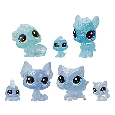 Littlest Pet Shop Frosted Wonderland Pet Friends Toy, Blue Theme, Includes 7 Pets, Ages 4 & Up: Toys & Games
