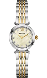 Bulova Womens Quartz Stainless Steel Dress Watch (Model: 98P154)
