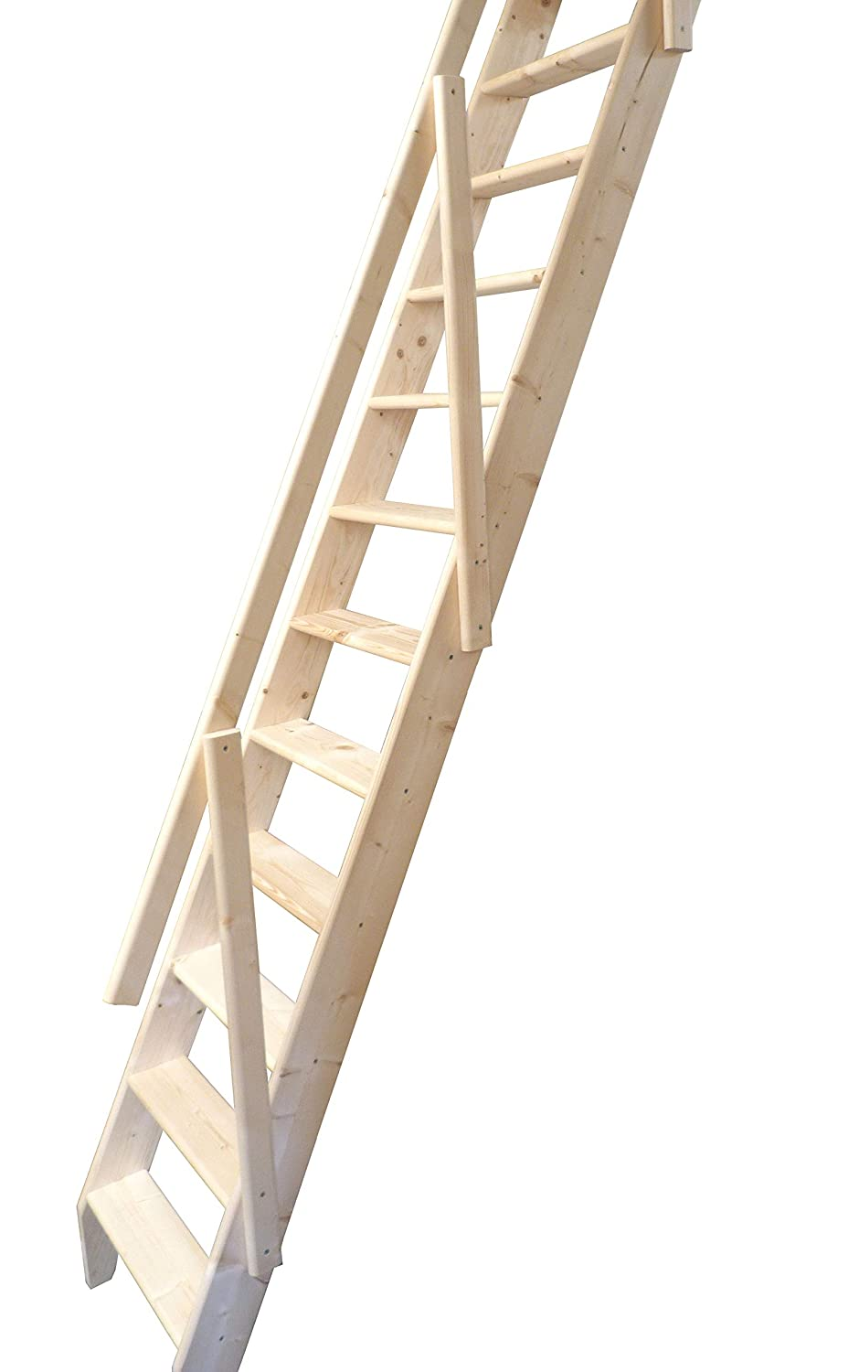 Dolle Arundel Wooden Space Saver Staircase (Loft Stair) c/w Ladder Slide System