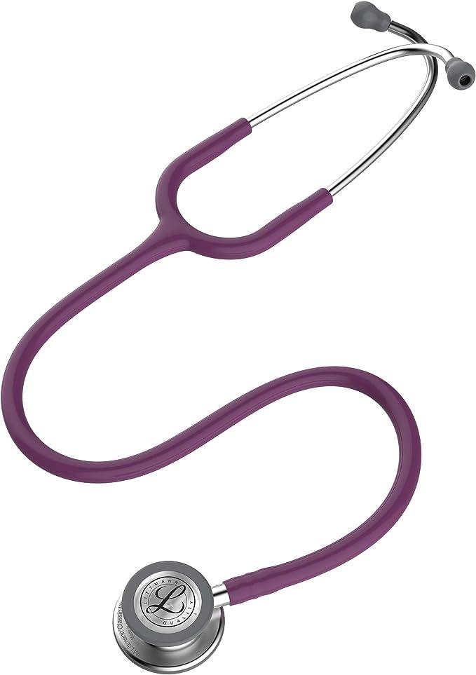 3M Littmann Estetoscopio Classic III, Manguera Color Ciruela, Acabado Standard, 69 cm (Modelo 5832): Amazon.com.mx: Salud y Cuidado Personal