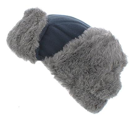 921224a8b The Hat Company Mens Winter Logan Fleece Trapper (Navy): Amazon.co ...