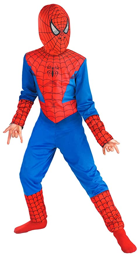 e9736dc89f2f0 FancyDressWale Spiderman Costume For Kids Small(2-4 Yrs) - Blue And Red
