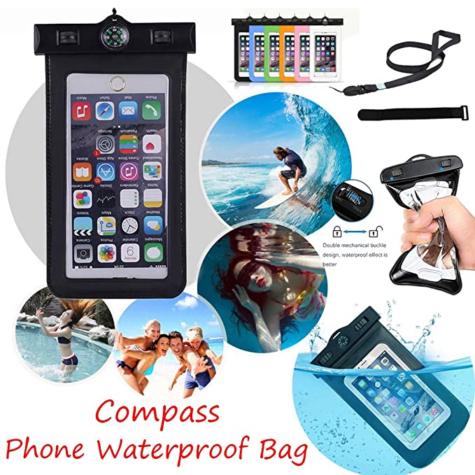 f34be29894409 YUYOUG 2018 Newest Waterproof Phone Bag Case With Portable Lanyard ...