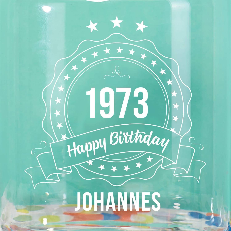 Geburtstagsgeschenk f/ür Frauen Geschenke.de Personalisierbares Keksglas mit Gravur Name+Jahr gravierte Keksdose als Geschenk f/ür Freundin Frauen und Mama zum Geburtstag