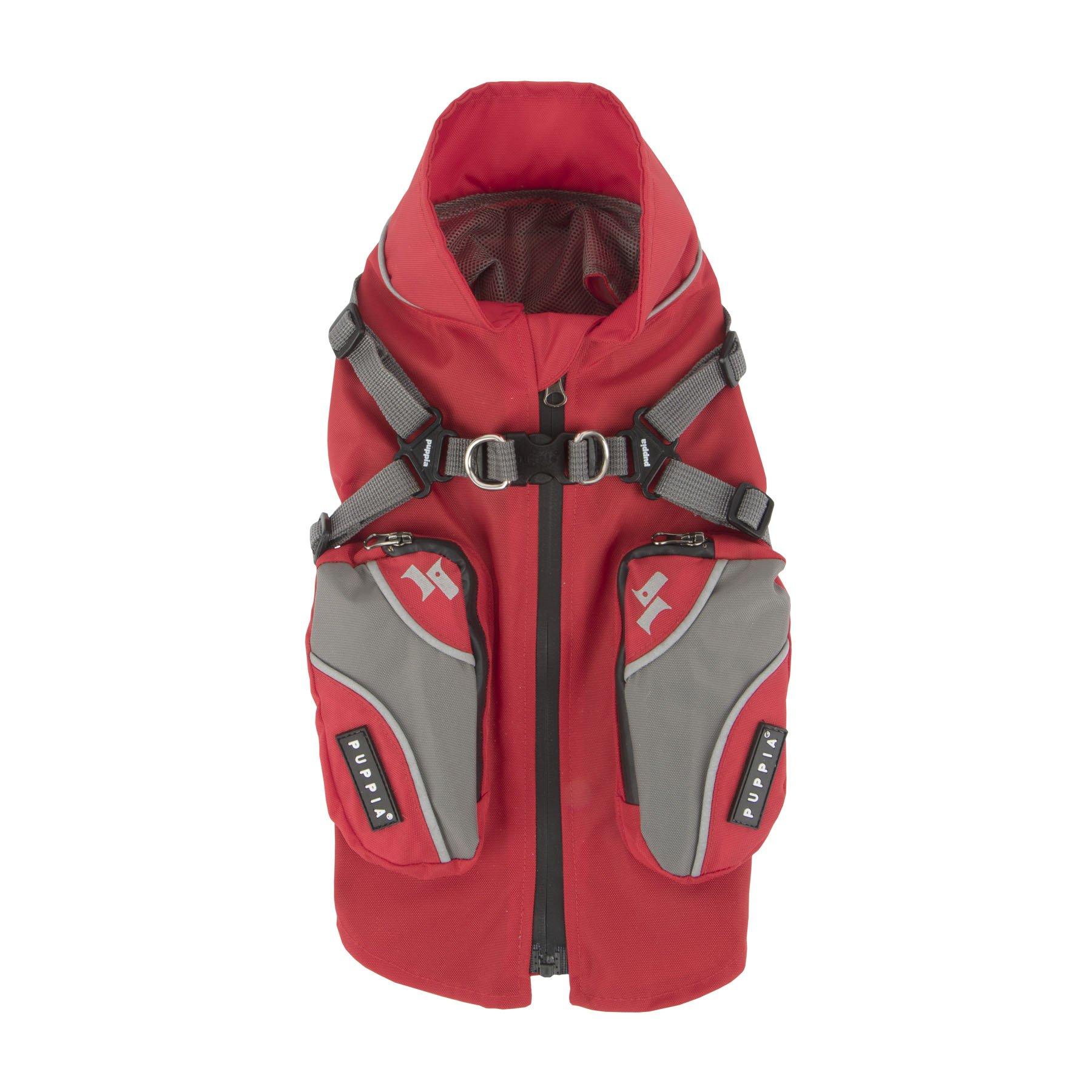 Puppia PLRA-JM9328-RD-XXL Red Teton Pet-Coats, XX-Large