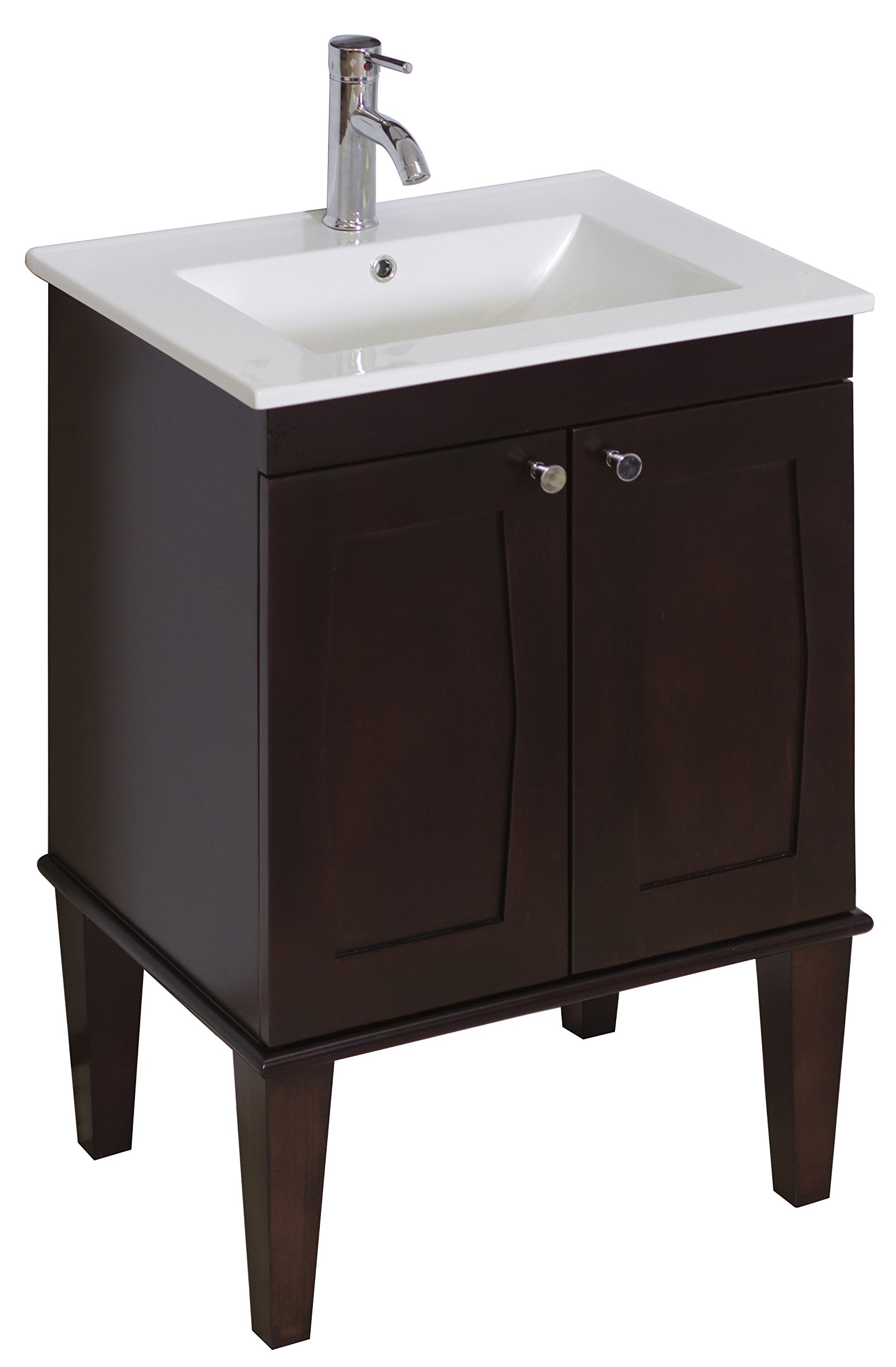 23-in. W x 18-in. D Transitional Birch Wood-Veneer Vanity Base Only In Antique Walnut by American Imaginations